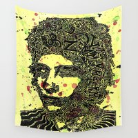 dylan Wall Tapestries featuring Bob Dylan #4 by Travis Poston