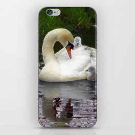 Swan family iPhone Skin
