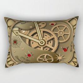 Steampunk clock gold Rectangular Pillow