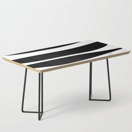 Irregular Stripes Black White Waves Art Design Coffee Table