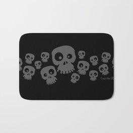 Skulls Fun - grey/black Bath Mat