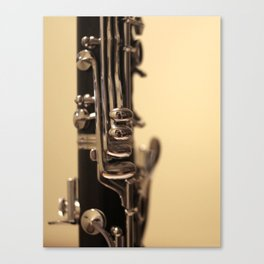 Clarinet Keys Canvas Print