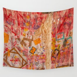 The Red Wall Wall Tapestry