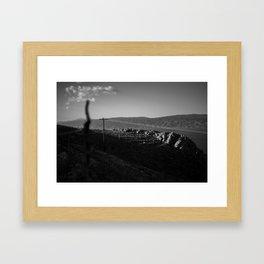Sleeping rocks Framed Art Print