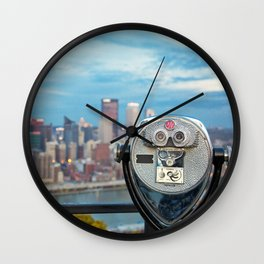 View Of Pittsburgh, Pennsylvania Wall Clock