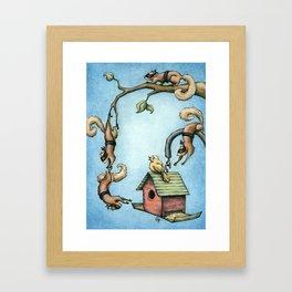 Ninja Squirrels Framed Art Print