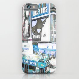 Times Square II (colour sketch style) iPhone Case