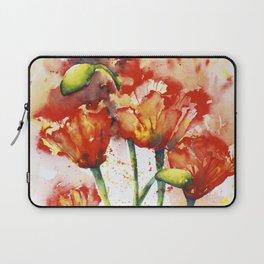 Lush Orange Spring Poppies Laptop Sleeve
