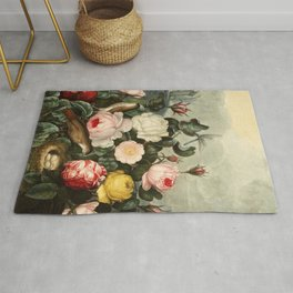 Pink  Red Floral : New Illustration Of The Sexual System Rug