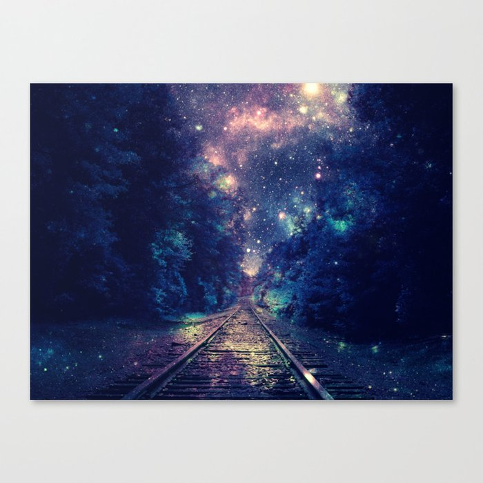 "Dream Train Tracks : ""Next Stop, Anywhere"" Canvas Print"