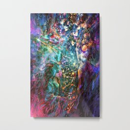 It starts out with a single star Metal Print