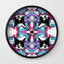 Mind Control Tuxedo Kitty  Wall Clock