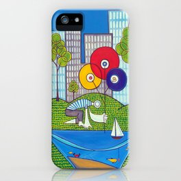 Puddle Fishing for Dreams iPhone Case