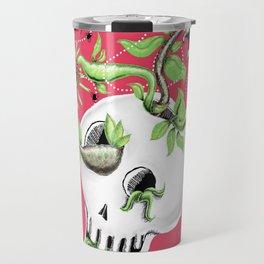 Skull Cachepot with Carnivorous Plants Travel Mug