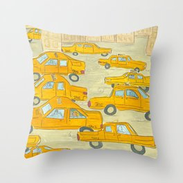 Taxis Throw Pillow