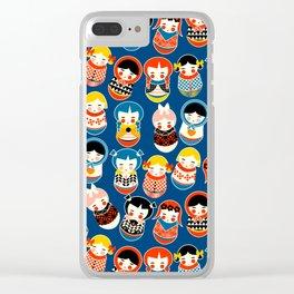 Babushka dolls vibrant pattern Clear iPhone Case