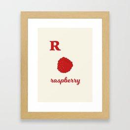 R is for raspberry Framed Art Print