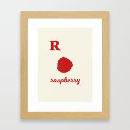 R is for raspberry Framed Art Print