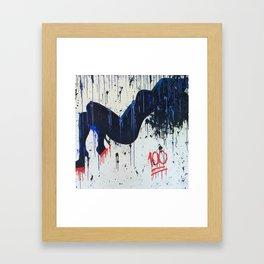 """""""keepin it 100"""" Framed Art Print"""