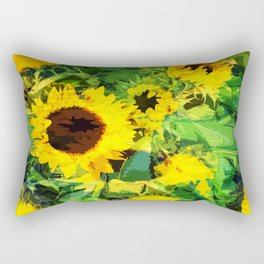 sunflowers amsterdam Rectangular Pillow