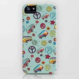 Retro  Hippie  Pattern 1 iPhone Case