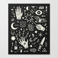 pattern Canvas Prints featuring Witchcraft by LordofMasks