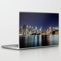 brooklyn bridge Laptop & iPad Skins featuring Brooklyn Bridge by Gunjan Marwah