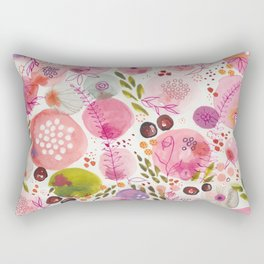 Pink Bubble for a Happy Spring Rectangular Pillow