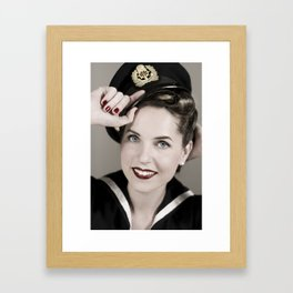 Sailor pin-up Framed Art Print