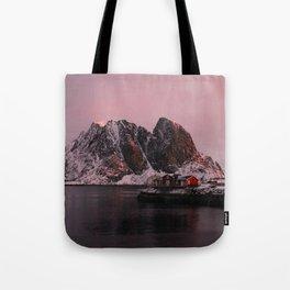 Sunrise in Lofoten Tote Bag