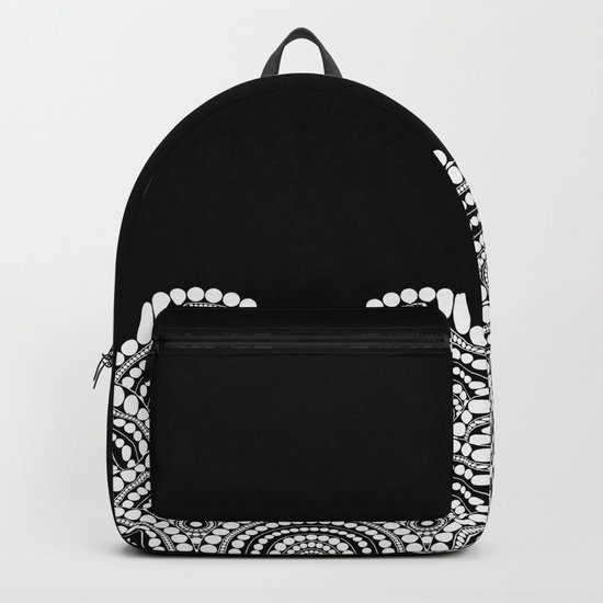 BLACK AND WHITE (abstract pattern) Backpack