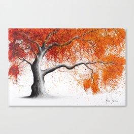 Orange Fall Tree Canvas Print
