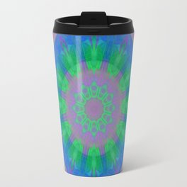 Neon Rising Mandala 4 Travel Mug