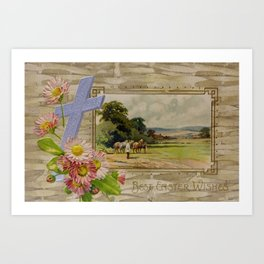 Best Easter Wishes from 1909 Art Print