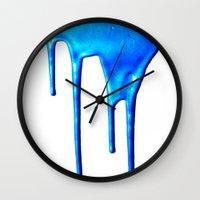 splatter Wall Clocks featuring Splatter by Hints Photos