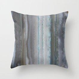 Agate Stripe Gray Throw Pillow