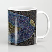 earth Mugs featuring Earth  by 2sweet4words Designs