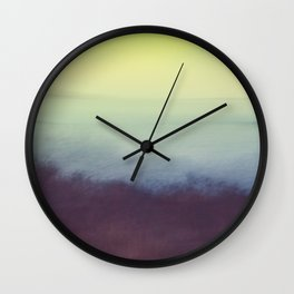 Coastal Landscape Abstract Wall Clock