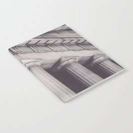 Black & white New York, Federal Hall, greek temple, Wall street, neoclassical architecture, fine art Notebook