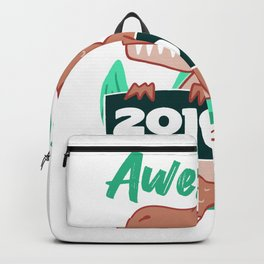 Dinosaur Awesome Since 2010 Birthday Gift Backpack
