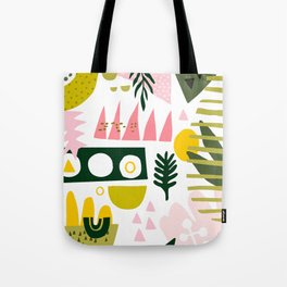 Flower Power Abstract Art Tote Bag