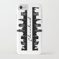cleveland iPhone & iPod Cases featuring Cleveland Skyline by Madison Asher
