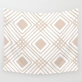 Criss Cross Diamond Pattern in Tan Wall Tapestry