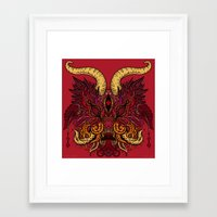 baphomet Framed Art Prints featuring baphomet by Ichsjah