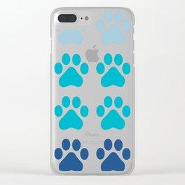 Huellas de gato Clear iPhone Case