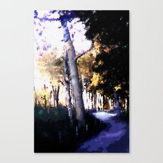 Hiking on the Coast. Canvas Print
