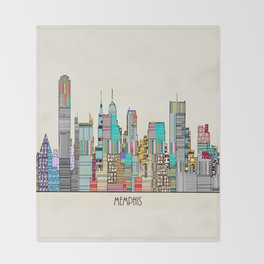 Memphis city Throw Blanket