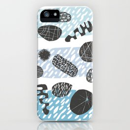 Cells in blue iPhone Case