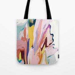Bloom [2]: a colorful, abstract digital painting Tote Bag