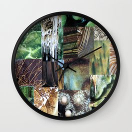 Collage - It's Not Easy Being Green Wall Clock
